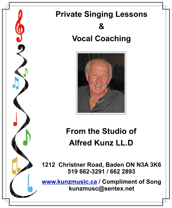 Alfred Kunz Compliment of Song